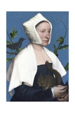 Lady with a Squirrel and a Starling Giclée-tryk af Hans Holbein the Younger