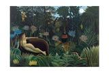 The Dream Giclee-trykk av Henri Rousseau