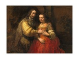 Portrait of a Couple as Figures from the Old Testament, known as 'The Jewish Bride' Reproduction procédé giclée par  Rembrandt van Rijn