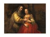 Portrait of a Couple as Figures from the Old Testament, known as 'The Jewish Bride' Lámina giclée por  Rembrandt van Rijn