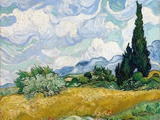 Wheat Field with Cypresses Gicléetryck av Vincent van Gogh