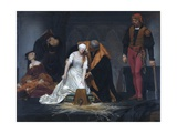 The Execution of Lady Jane Grey in the Tower of London in the Year 1554 Reproduction procédé giclée par Paul Delaroche