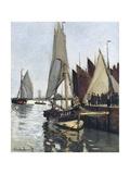 Bateaux a Honfleur (Study for Le Port De Honfleur) Lámina giclée por Claude Monet