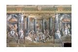 Baptism of Constantine Reproduction procédé giclée par  Raphael