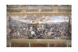 Constantine's Battle at the Milvian Bridge Reproduction procédé giclée par  Raphael