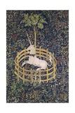 The Unicorn in Captivity Tapestry Giclée-tryk