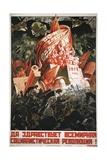 Soviet Propaganda Poster Giclée-Druck
