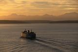 Ferry Boat in Elliot Bay Fotografie-Druck von Paul Souders
