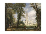 Salisbury Cathedral from the Bishop's Garden Giclée-tryk af John Constable