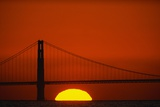 Sunset Behind the Golden Gate Bridge Photographic Print by Paul Souders
