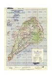 US Landing and Targeting Map of Iwo Jima Reproduction procédé giclée