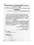 Manuscript of Fifteenth Amendment to the Constitution Giclee-trykk
