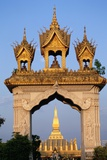 Pha That Luang Gate and Stupa Photographic Print by Paul Souders