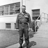 US Army Soldier Poses for a Photo on Base, Ca. 1954 Fotoprint