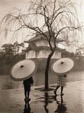 Women Carrying Japanese Umbrellas Photographic Print by James R. Young