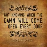 Now Knowing - Emily Dickinson Classic Quote Affiche par Jeanne Stevenson