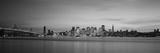 Suspension Bridge with City Skyline at Dusk, Bay Bridge, San Francisco Bay, San Francisco Photographic Print