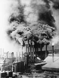 Smokestacks Polluting Pittsburgh Photographic Print