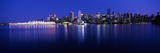 Vancouver Skyline at Night, British Columbia, Canada 2013 Fotoprint