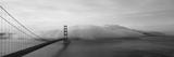 Golden Gate Bridge and Fog San Francisco Ca Fotografie-Druck