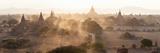 Ancient Temples at Sunset, Bagan, Mandalay Region, Myanmar Photographic Print