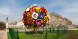 Flower Tree Sculpture at Place Antonin Poncet, Lyon, Rhone, Rhone-Alpes, France Photographic Print by Green Light Collection
