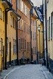 Buildings in Old Town, Gamla Stan, Stockholm, Sweden Fotografisk tryk
