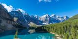 Moraine Lake at Banff National Park in the Canadian Rockies Near Lake Louise, Alberta, Canada Fotografisk tryk