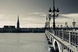 Pont De Pierre Bridge across Garonne River, Bordeaux, Gironde, Aquitaine, France Photographic Print