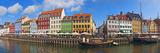 Buildings Along a Canal with Boats, Nyhavn, Copenhagen, Denmark Fotografisk trykk