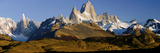 Mountains, Mt Fitzroy, Cerro Torre, Argentine Glaciers National Park, Patagonia, Argentina Fotografisk tryk