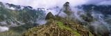 High Angle View of an Archaeological Site, Inca Ruins, Machu Picchu, Cusco Region, Peru Lámina fotográfica