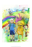 Adventure Time Poster von Lora Zombie