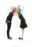 Big Bang Kiss Kunst af Lora Zombie