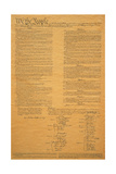 The Original United States Constitution Fotografisk tryk