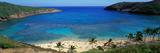 Beach at Hanauma Bay Oahu Hawaii USA Fotografisk tryk