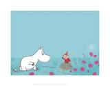 Moomintroll and Little My Pôsters por Tove Jansson