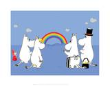 The Moomins Enjoying the Rainbow Arte por Tove Jansson
