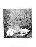 Vintage Moomin Illustration Prints by Tove Jansson