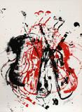 Violents Violin I Reproductions de collection premium par  Arman