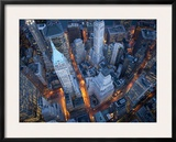 Aerial View of Wall Street Framed Photographic Print by Cameron Davidson