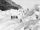 Glacier on Mount Blanc Fotografie-Druck