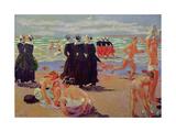 Bathing at the Pardon of Sainte-Anne-La-Palud, 1905 Reproduction procédé giclée par Maurice Denis