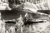 The German Battleship Tirpitz, Probably Photographed in a Norwegian Fjord Reproduction photographique