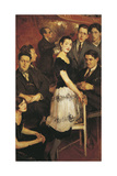 Jean Cocteau and a Group of Six Composers (Group Called Les Six), 1920 Giclee Print by Jacques-emile Blanche