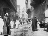 Street in Old Cairo Fotografisk tryk