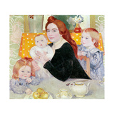 Large Family Portrait in Blue and Yellow, 1902 Giclee Print by Maurice Denis