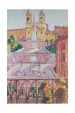 Spanish Steps and the Trinitadei Monti Church, Rome, 1928 Giclee Print by Maurice Denis