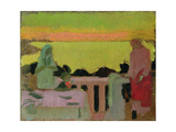 On the Balcony at Silencio, or Marthe and Marie in Silence, C. 1917 Giclee Print by Maurice Denis