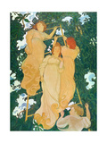 The Ladder in the Foliage, 1892 Giclée-tryk af Maurice Denis